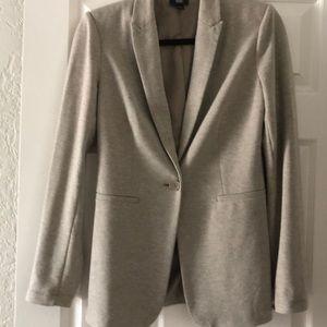 Long lined jersey blazer